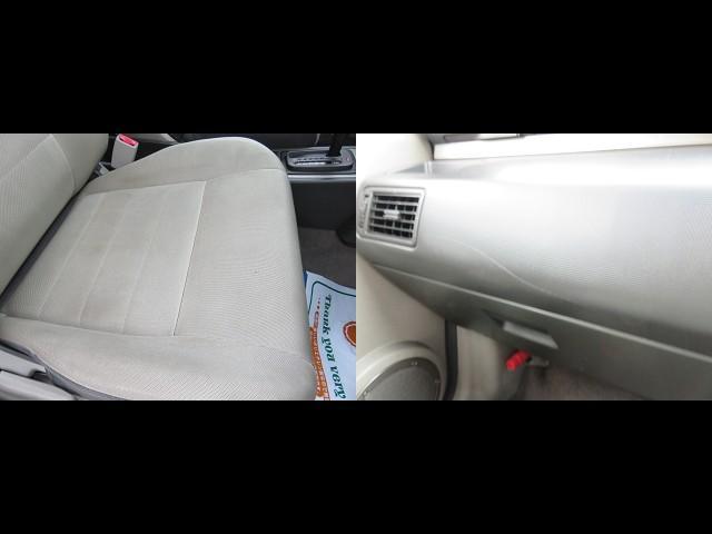 シート専用のクリーニングの機械がありますのでしっかりと洗浄してみます。きっと綺麗に仕上がると思います。洗浄後に写真を掲載しますので少しお待ちくださいね。他に気になる所は助手席側のダッシュボードの傷です