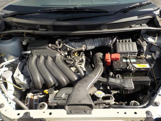 とても綺麗なエンジンルームです。エンジンCVT共に良好、当社整備工場にてしっかりとメンテナンスして納車致します。自社整備工場完備ですのでアフターメンテナンスもお任せ下さい☆