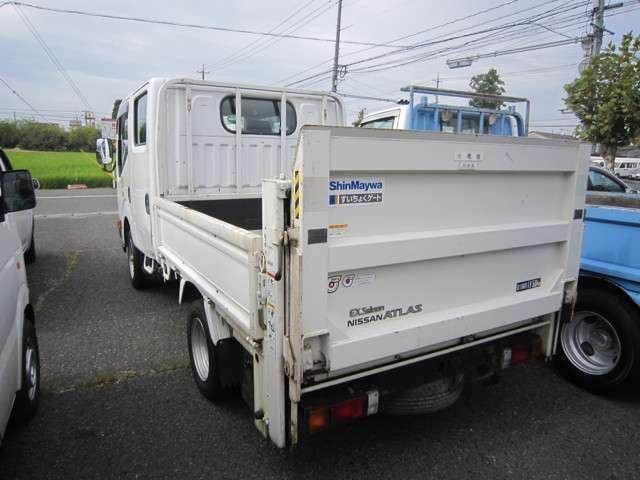 日産 アトラストラック WキャブスーパーローDX 新明和垂直パワーゲート