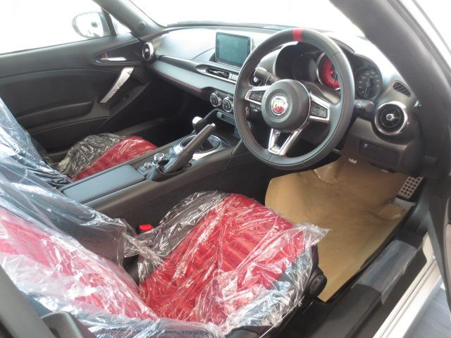 アバルト アバルト124 スパイダー ベースグレード レザーシート ナビ 登録済未使用車
