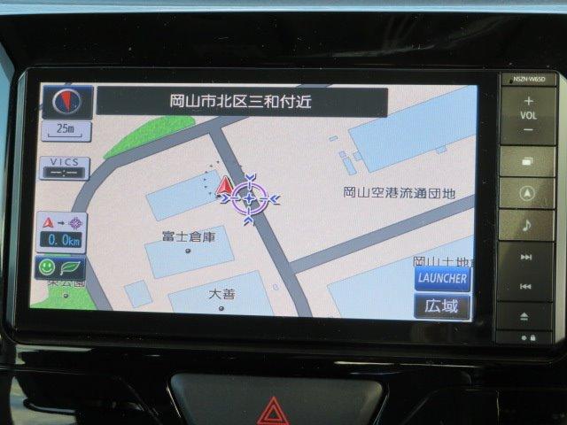 ナビゲーション付きなので、初めての道も安心・快適!!目的地の検索・設定も簡単操作でラクラクです。