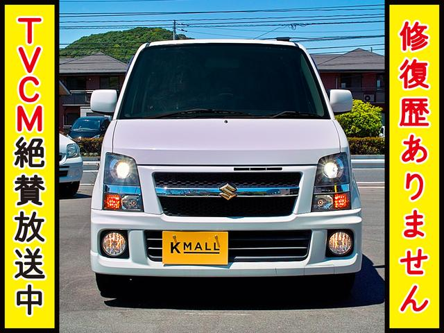 スズキ ワゴンR RR-DIナビ TV DVD HID 黒革調シート 1年保証