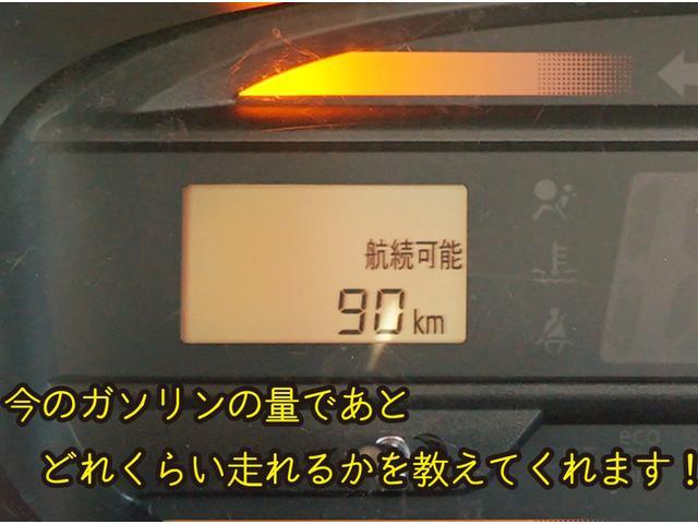 今のガソリン残量であと何km走れるかを数字で教えてくれるすぐれもの!!