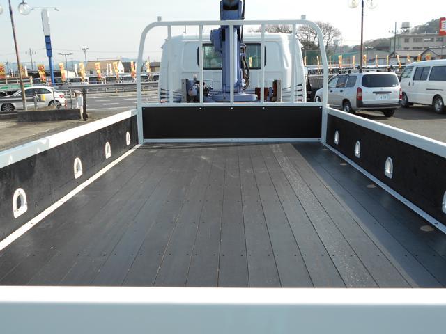 いすゞ エルフトラック 2.9t吊4段クレーン 3.45t積ワイド超ロング 全低床