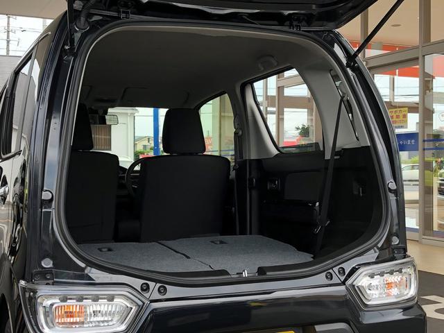 後席シートを倒して頂けば、広い荷室スペースとなります!