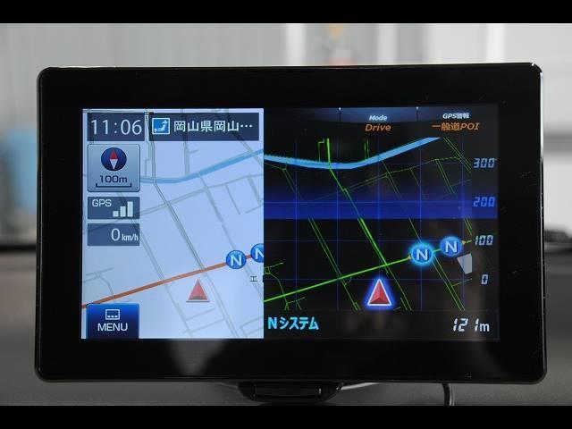 L 社外ポータブルナビ ワンセグ ETC レーダーブレーキサポート アイドリングストップ 横滑り防止 運転席シートヒーター フロアマット バイザー エネチャージ キーレス(8枚目)