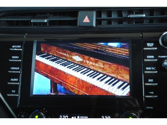 Gレザーパッケージ 純正SDナビ フルセグ ブルーレイ Bluetooth ステリモ バックモニター 黒レザーシート パワーシート シートヒーター モデリスタエアロ トヨタセーフティセンス レーンキープ(9枚目)