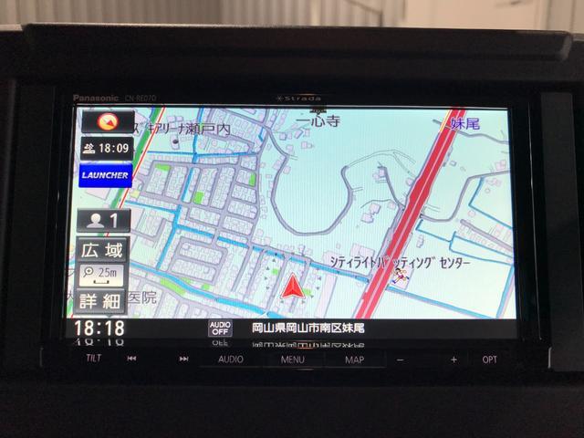 XL ワンオーナー 新品社外SDナビ フルセグ DVD Bluetooth バックモニタ- スズキセーフティサポート プッシュスタート スマートキー オートエアコン 前席シートヒーター オートライト(8枚目)