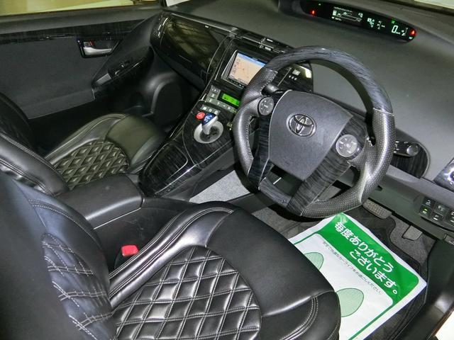 トヨタ プリウス L 1オーナー 外エアロ18AWローダウン LEDイカリング