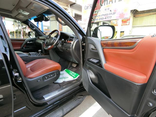 LX570 4WD SR本革ナビ WALDエアロAWマフラー(12枚目)