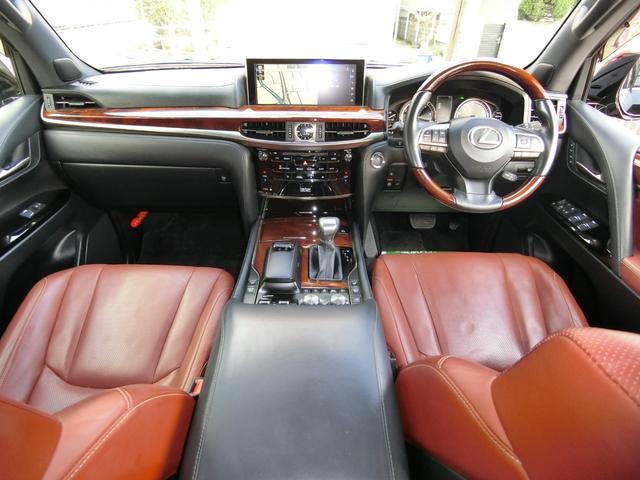 LX570 4WD SR本革ナビ WALDエアロAWマフラー(13枚目)