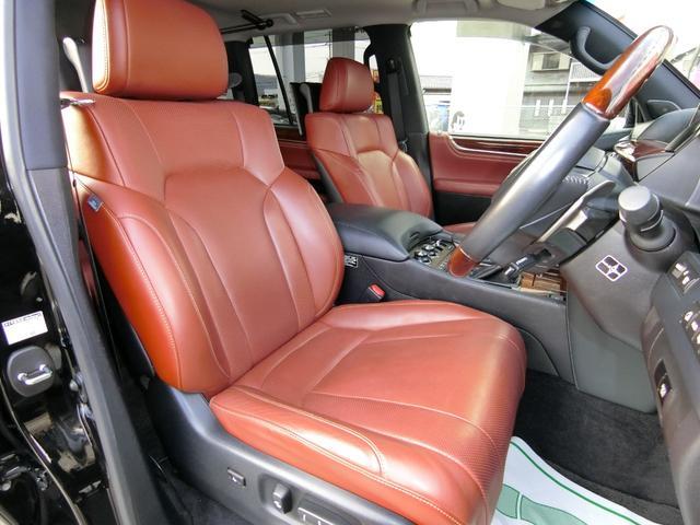 LX570 4WD SR本革ナビ WALDエアロAWマフラー(15枚目)