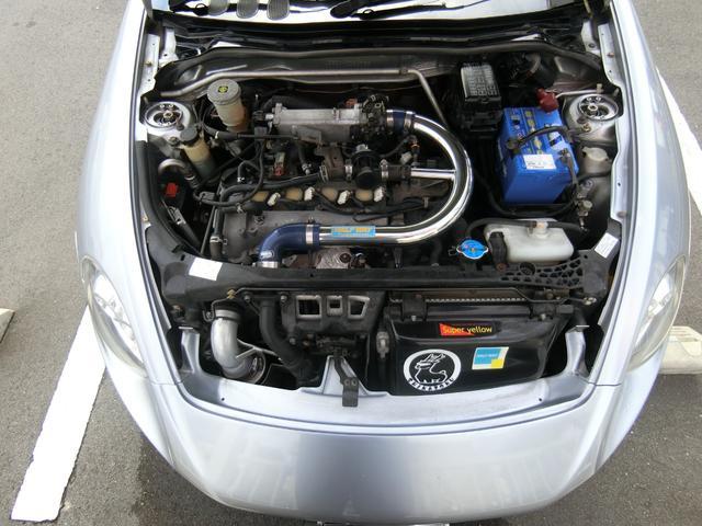 2ndアニバーサリーエディション ターボ 電動オープン カーボンボンネット 外品エアロ WORKエクイップ14AW 車高調 外品マフラー LEDライト レカロシート モモステ キーレス シートH ETC ブリッツFマルチディスプレイ(20枚目)