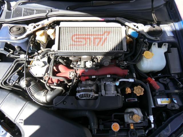 WRX STi 6MT ターボ 4WD エアロ 純正17AW ローダウン HID キーレス CD 盗難防止 記録簿H23からH31 ETC タイミングベルト交換済(20枚目)