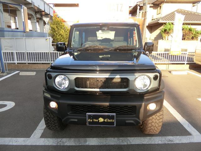 JL 5MT 4WD ジーアイギガ FUEL特注16AW ホワイトレタータイヤ リフトアップキット 背面タイヤ カスタムグリル ヒッチメンバー 革調シート DVD ウーハー シートヒーター セーフティSP(2枚目)