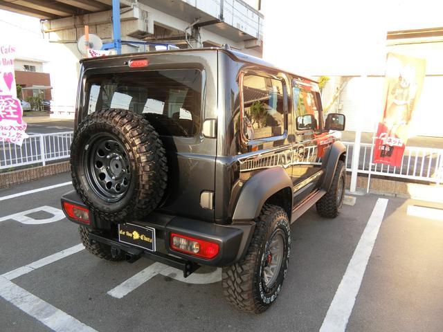 JL 5MT 4WD ジーアイギガ FUEL特注16AW ホワイトレタータイヤ リフトアップキット 背面タイヤ カスタムグリル ヒッチメンバー 革調シート DVD ウーハー シートヒーター セーフティSP(7枚目)