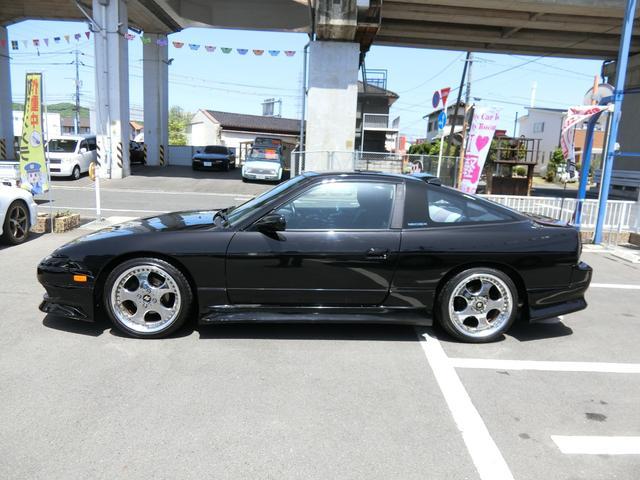 タイプS 黒全塗装 5MT 外品フルエアロ WORK18AW 車高調 外品マフラー 外品ルーフスポイラー フル装備 ABS タイミングチェーン式(6枚目)