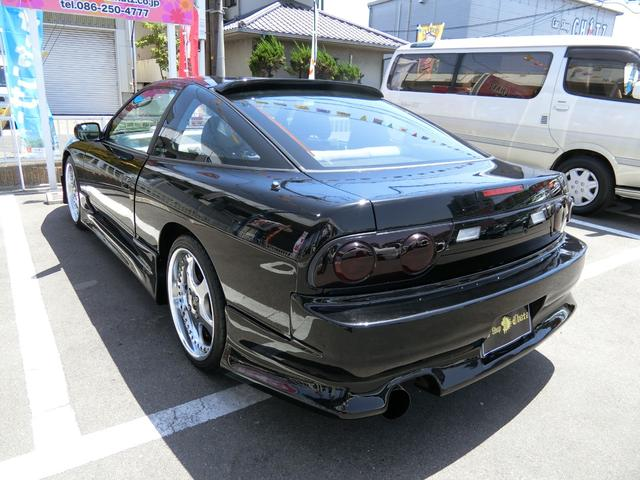 タイプS 黒全塗装 5MT 外品フルエアロ WORK18AW 車高調 外品マフラー 外品ルーフスポイラー フル装備 ABS タイミングチェーン式(7枚目)