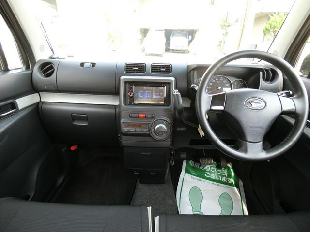 カスタム RS ターボ 4WD メモリーナビTV バックカメラ CD DVD再生 純正15AW HID スマートキー ベンチシート ETC コラムオートマ ベンチシート 車庫保管 半年毎ディーラー整備(13枚目)