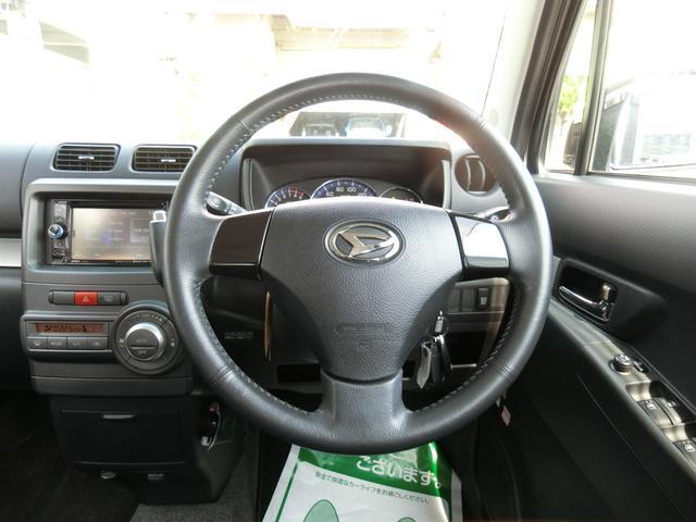 カスタム RS ターボ 4WD メモリーナビTV バックカメラ CD DVD再生 純正15AW HID スマートキー ベンチシート ETC コラムオートマ ベンチシート 車庫保管 半年毎ディーラー整備(14枚目)