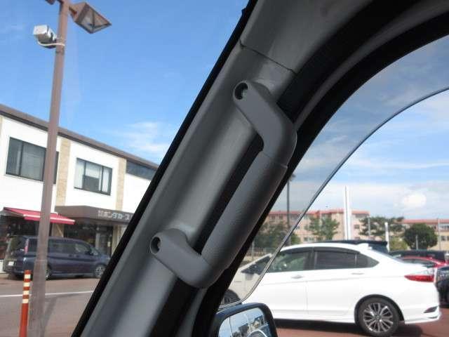 運転席と助手席のピラーにはアシスタントグリップを装備しています。