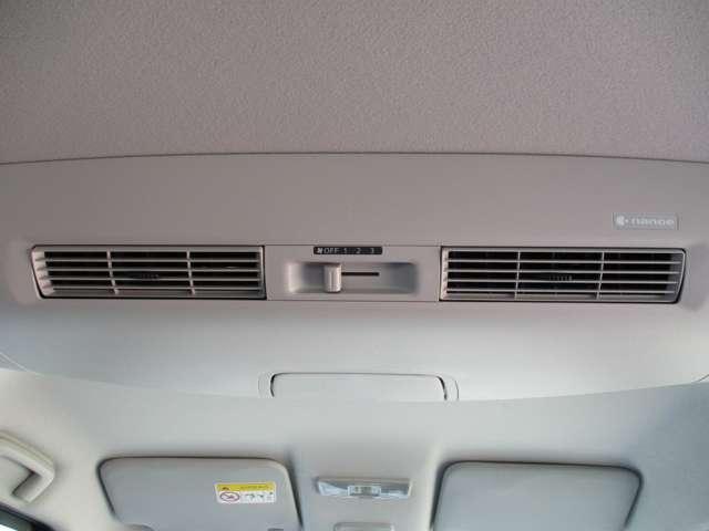 リヤシーリングファン。室内の空気を循環させるので快適です。