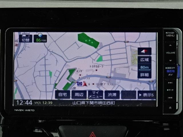 ケンウッド製のメモリーナビ(NMZK-W67D)です。安全の為に運転中の操作は控えてくださいね☆