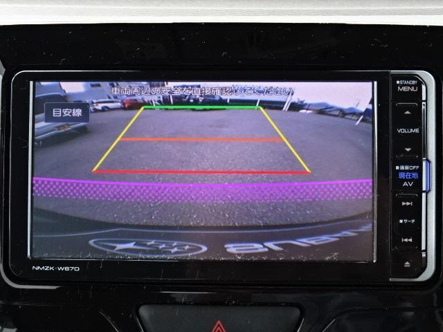 シフトを「R」に入れると、ナビモニターに車体後部周辺の画像が写し出されます☆