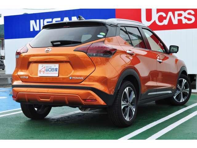 ☆こちらのお車はキックスe-POWERXツートンインテリアエディション、お色はプレミアムホライズンオレンジ/ブラックでございます☆