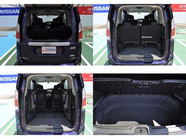 ☆バックドアの約半分の 開閉スペースがあれば荷物を出し入れすることができるハーフバックドアを新設定。狭い駐車場などでも安心の使い勝手です。