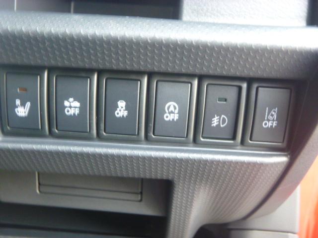 アイドリングストップや横滑り防止機能などは状況に応じてオフにすることも可能です又、運転席にはシートヒーターも装備してます。」