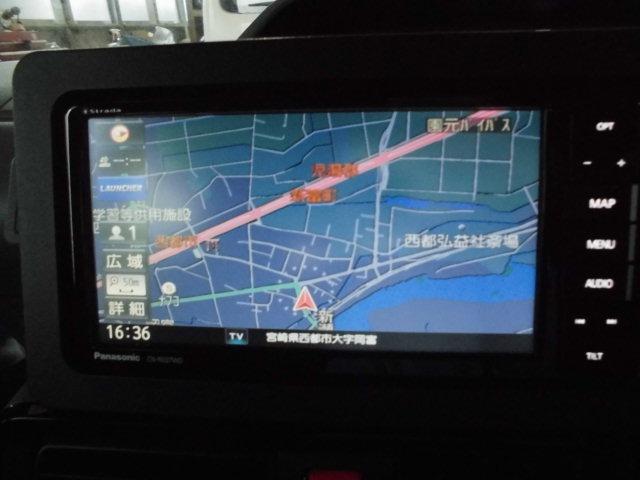 カスタムXセレクション 社外ナビ地デジ バックカメラ ETC 両側電動スライドドア スマートキー プッシュスターター 衝突軽減ブレーキ 横滑り防止機能 アイドリングストップ コーナーセンサー(8枚目)