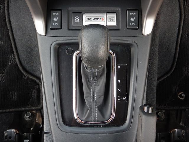 フロアタイプのMTモード付シフトレバーです♪シフトレバー奥には運転席・助手席のシートヒータースイッチとアイドリングストップのOFFスイッチ、X-MODEスイッチがついています♪