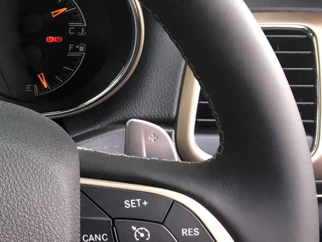 ドライバーの意志を瞬時に伝える、素早いシフト操作が可能なパドルシフトが備わります。