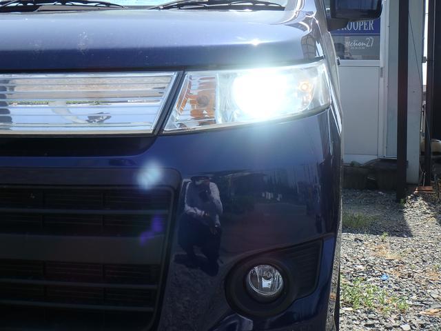 スズキ ワゴンRスティングレー T パドルシフト ターボ HID ナビ Bluetooth