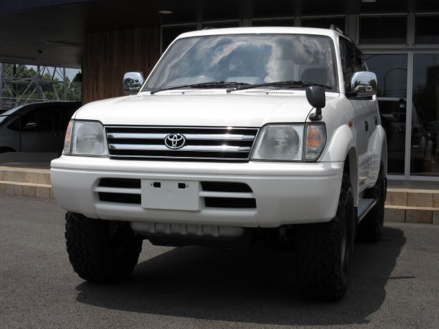 トヨタ ランドクルーザープラド TXディーゼルターボ 新品部品リフトUP 1オーナー禁煙車
