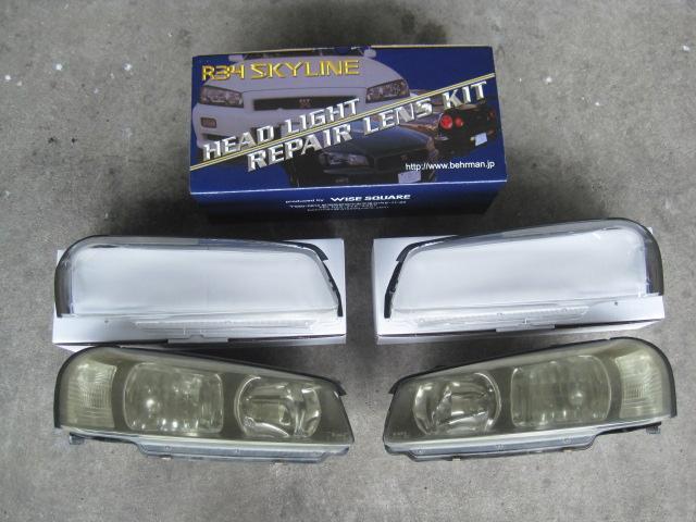 ER34のヘッドライトはプラスチック樹脂製ゆえ、経年による黄ばみが発生します。この作品車はヘッドライトレンズも新品交換しました☆ ピカピカなライトがさらに精悍な表情を演出します☆ 暗い夜道も安全です♪