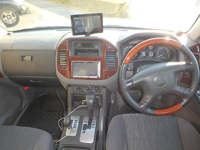 三菱 パジェロ ロング エクシード 4WD HDDナビ CD DVD ETC