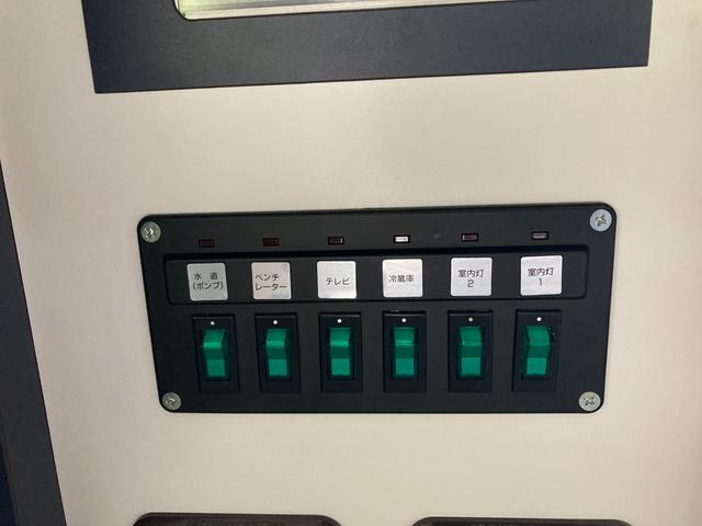 SロングDX GLパッケージ 家庭用エアコン 冷蔵庫 シンク SDナビ フルセグ バックカメラ ETC リア常設Wベッド 対座テーブルベッド エクステイションBOX キャンバー鹿児島社Rem べバストFFヒーター(23枚目)