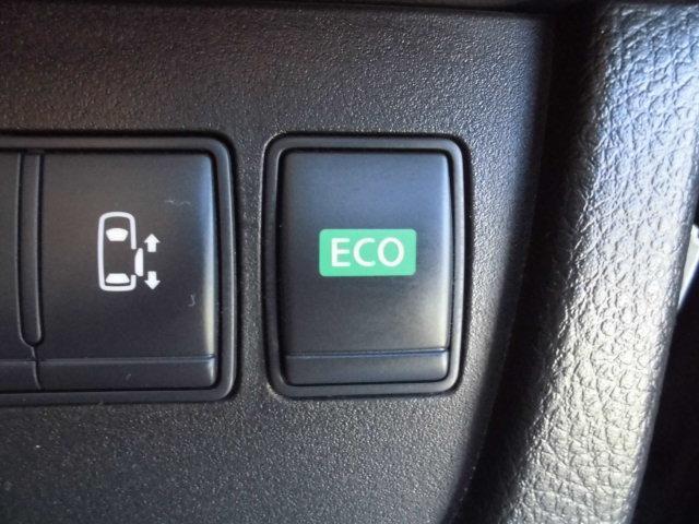 エコモードスイッチをONにして走行すれば、燃費向上に役立ちます♪