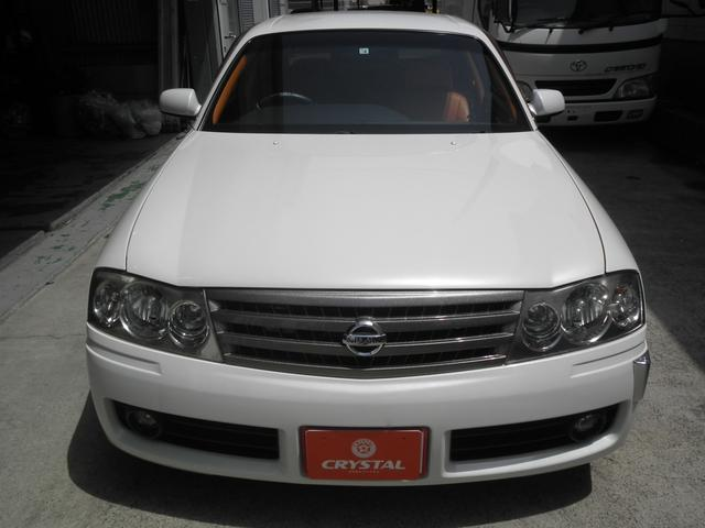 グランツーリスモ300SV ナビED II Largus車高調 VOSSEN20インチアルミホイール 社外2本出しマフラーオレンジ/ホワイトシートカバー(6枚目)