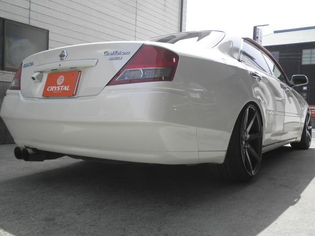 グランツーリスモ300SV ナビED II Largus車高調 VOSSEN20インチアルミホイール 社外2本出しマフラーオレンジ/ホワイトシートカバー(9枚目)