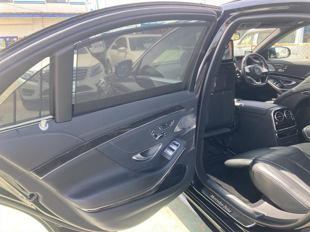S550ロング AMGライン ショーファーパッケージ ワンオーナー 禁煙車 ディーラー車 右ハンドル レザーシート パノラマサンルーフ オットマン ナビ 360度カメラ リヤモニター(16枚目)