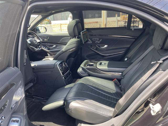S550ロング AMGライン ショーファーパッケージ ワンオーナー 禁煙車 ディーラー車 右ハンドル レザーシート パノラマサンルーフ オットマン ナビ 360度カメラ リヤモニター(17枚目)