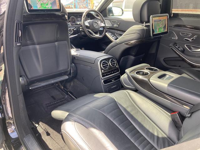 S550ロング AMGライン ショーファーパッケージ ワンオーナー 禁煙車 ディーラー車 右ハンドル レザーシート パノラマサンルーフ オットマン ナビ 360度カメラ リヤモニター(19枚目)