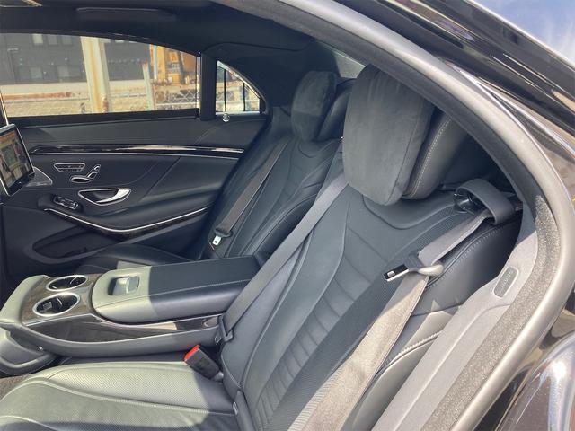 S550ロング AMGライン ショーファーパッケージ ワンオーナー 禁煙車 ディーラー車 右ハンドル レザーシート パノラマサンルーフ オットマン ナビ 360度カメラ リヤモニター(22枚目)