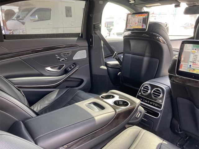 S550ロング AMGライン ショーファーパッケージ ワンオーナー 禁煙車 ディーラー車 右ハンドル レザーシート パノラマサンルーフ オットマン ナビ 360度カメラ リヤモニター(59枚目)