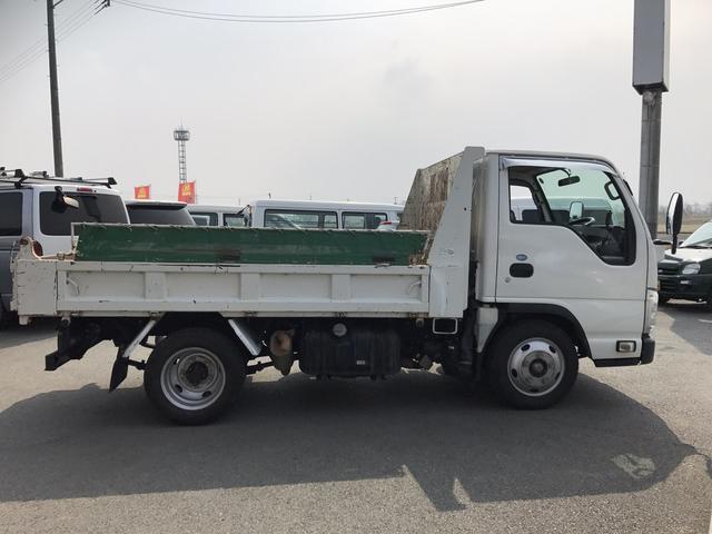 いすゞ エルフトラック 2tダンプ フルフラットロー 3ペダル コボレーン
