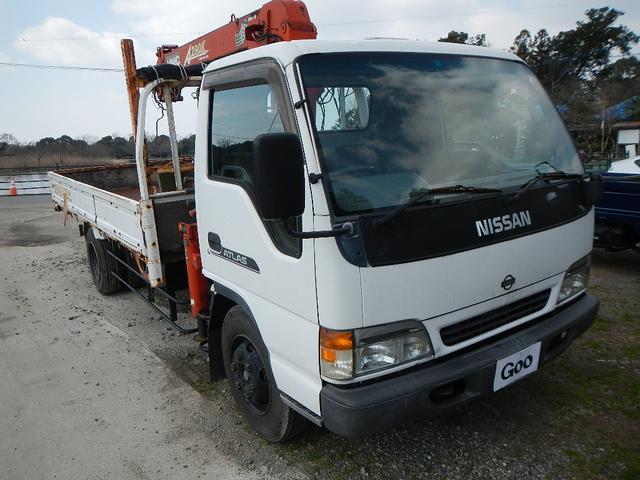 日産 アトラストラック 超ロング フルカワ4段ユニック フックイン ラジコン付