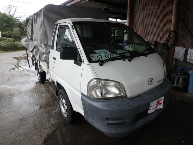 トヨタ タウンエーストラック ロングDX ホロ ETC CD ナビ 4WD パワステ AC